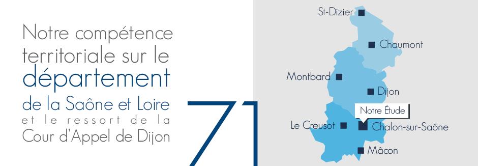 Compétence territoriale Saône et Loire